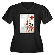 Red Cross Comradeship Women's Plus Size V-Neck Dar