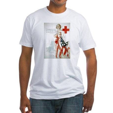Red Cross Comradeship Fitted T-Shirt