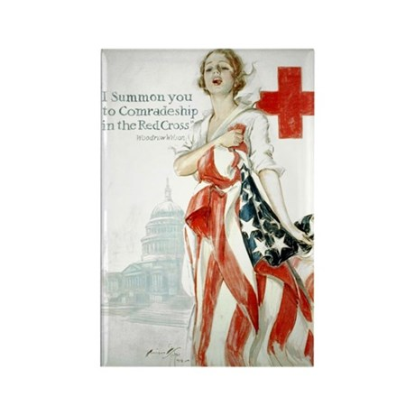 Red Cross Comradeship Rectangle Magnet