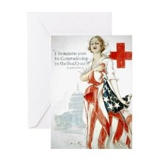 Red Cross Comradeship Greeting Card