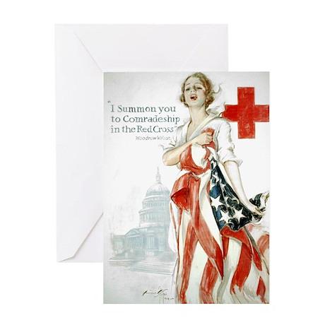 Red Cross Comradeship Greeting Card