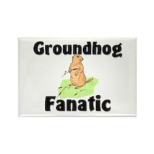 Groundhog Fanatic Rectangle Magnet