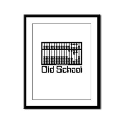 Old School Framed Panel Print