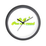 Pie R Not Square Wall Clock