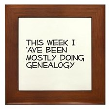 Mostly Genealogy Framed Tile