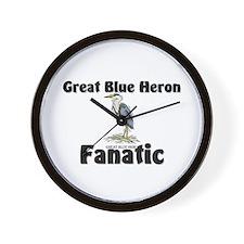 Great Blue Heron Fanatic Wall Clock