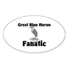 Great Blue Heron Fanatic Oval Decal