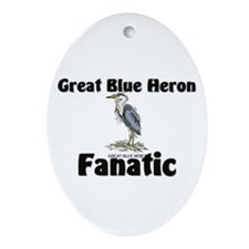 Great Blue Heron Fanatic Oval Ornament