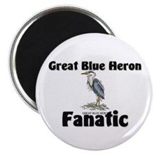 """Great Blue Heron Fanatic 2.25"""" Magnet (10 pack)"""