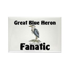 Great Blue Heron Fanatic Rectangle Magnet