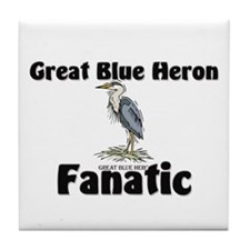 Great Blue Heron Fanatic Tile Coaster