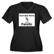Great Blue Heron Fanatic Women's Plus Size V-Neck
