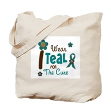 I Wear Teal For The Cure 12 Tote Bag