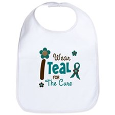 I Wear Teal For The Cure 12 Bib