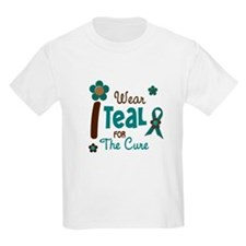 I Wear Teal For The Cure 12 T-Shirt