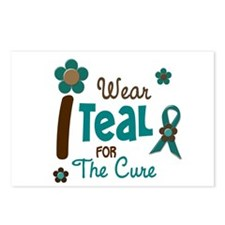 I Wear Teal For The Cure 12 Postcards (Package of