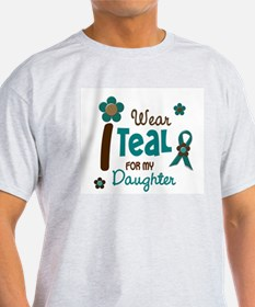 I Wear Teal For My Daughter 12 T-Shirt