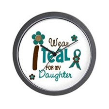 I Wear Teal For My Daughter 12 Wall Clock