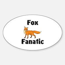Fox Fanatic Oval Decal