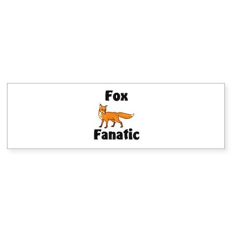 Fox Fanatic Bumper Sticker