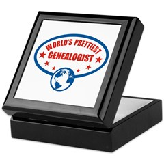 Worlds Prettiest Genealogist Keepsake Box