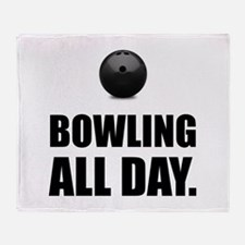 Bowling All Day Throw Blanket