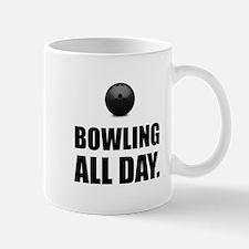 Bowling All Day Mugs