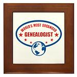 Worlds Most Organized Genealogist Framed Tile