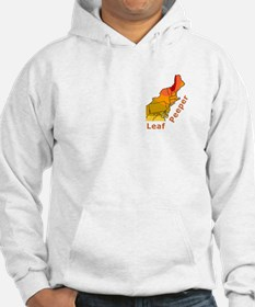 Leaf Peeper Map (fall foliage) Hoodie Sweatshirt