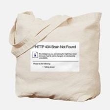 Geek 404 Error Tote Bag