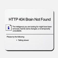 Geek 404 Error Mousepad