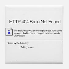 Geek 404 Error Tile Coaster