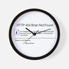 Geek 404 Error Wall Clock