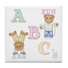 Teddy Tots Alphabet Bears Tile Coaster
