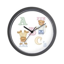 Teddy Tots Alphabet Bears Wall Clock