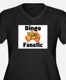 Dingo Fanatic Women's Plus Size V-Neck Dark T-Shir