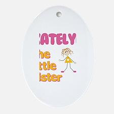 Katelyn - The Little Sister Oval Ornament