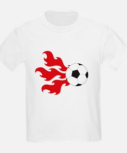 Soccer Ball Flames T-Shirt