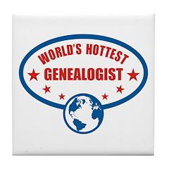 Worlds Hottest Genealogist Tile Coaster