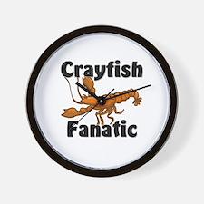 Crayfish Fanatic Wall Clock