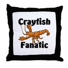 Crayfish Fanatic Throw Pillow