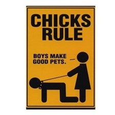 Chicks Rule Postcards (Package of 8)