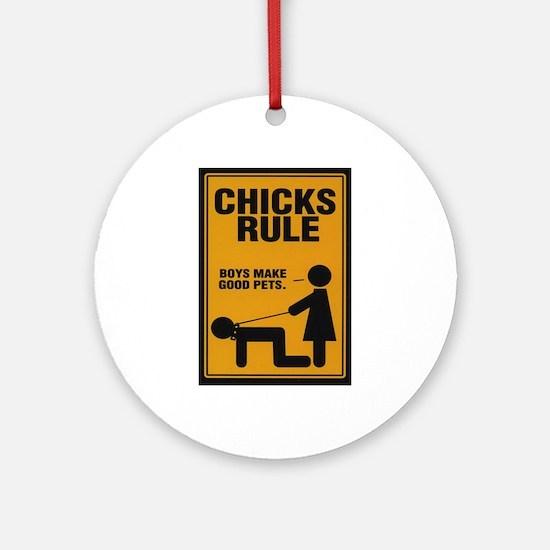 Chicks Rule Keepsake (Round)