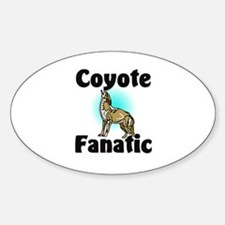 Coyote Fanatic Oval Decal