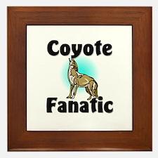 Coyote Fanatic Framed Tile