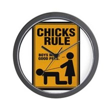 Chicks Rule Wall Clock