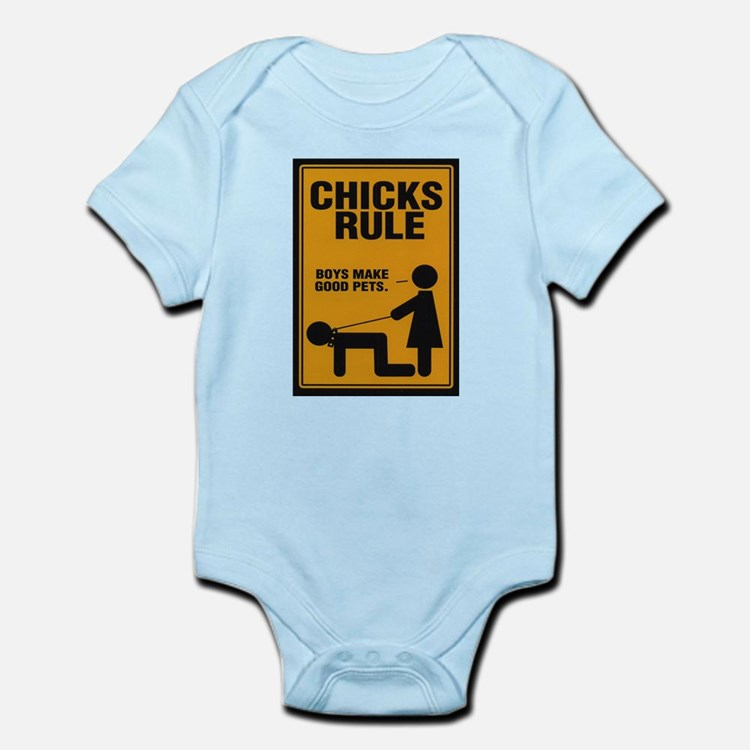 Chicks Rule Infant Creeper