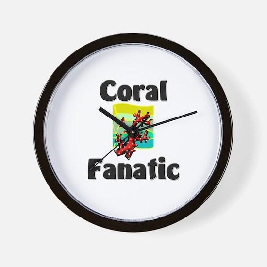 Coral Fanatic Wall Clock