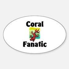 Coral Fanatic Oval Decal