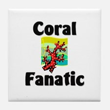 Coral Fanatic Tile Coaster